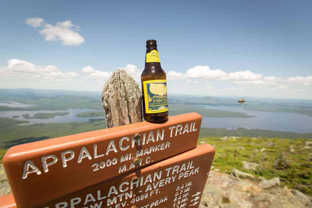 hiking trail and beer