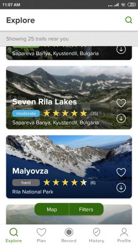 all trailsapp hiking trails near me