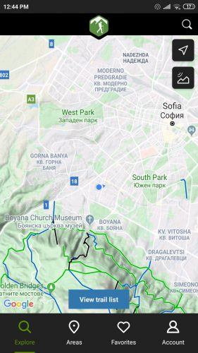 hiking project navigation gps app