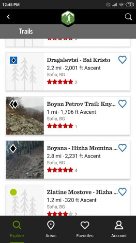 hiking project app trails