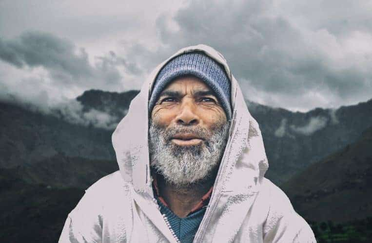 old man in the mountains