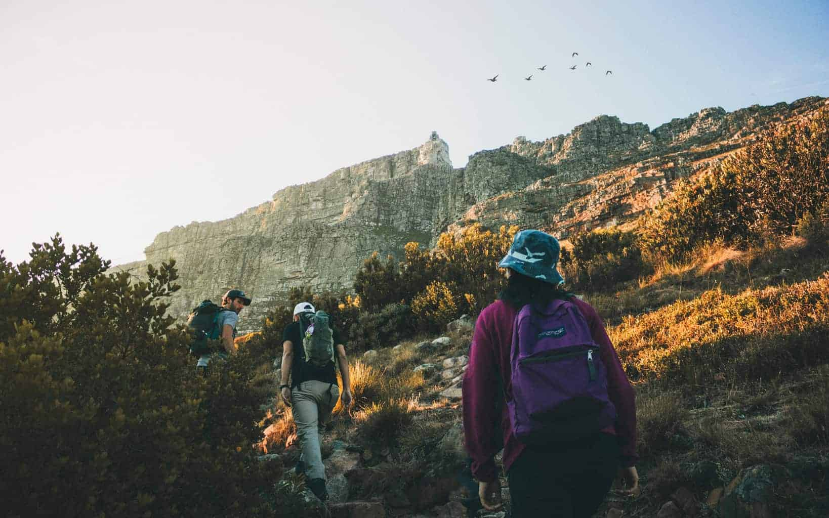 people hiking with jansport backpacks for hiking