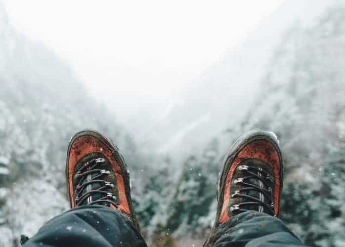 winter hiking shoes