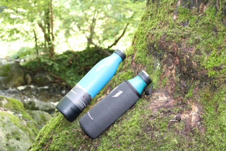 two insulated water bottles