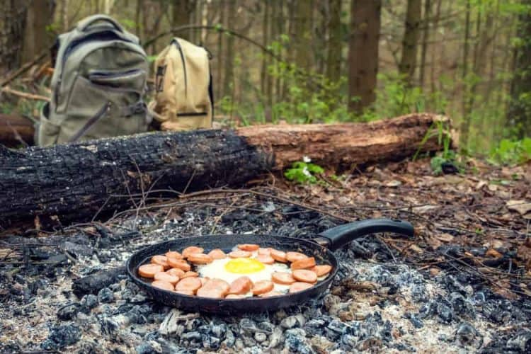 scrambled eggs for hiking