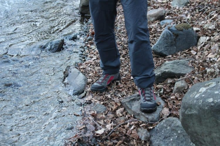 hiking in protective boots