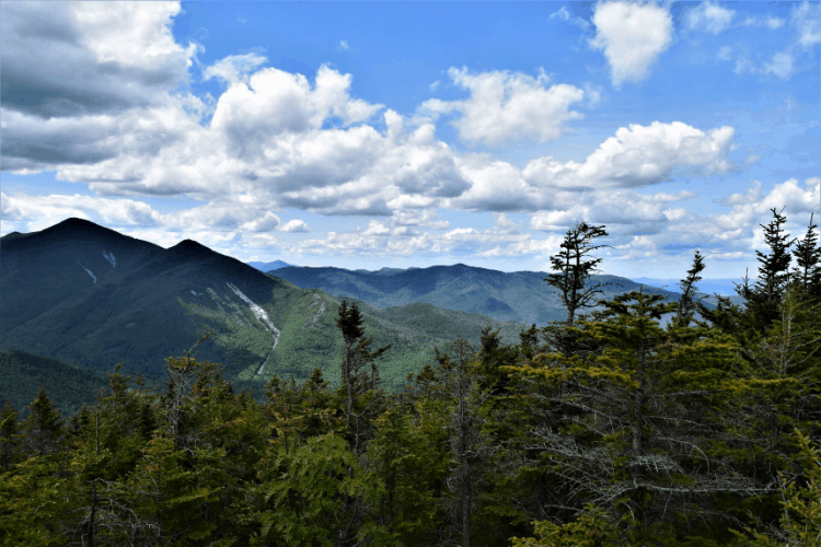 a view of the high peaks mountains