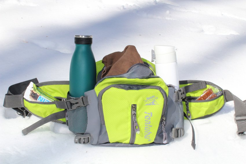 all adventures lumbar pack loaded with gear