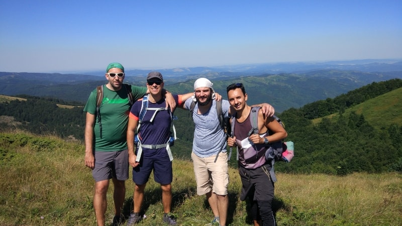 backpacking in Bulgaria with friends