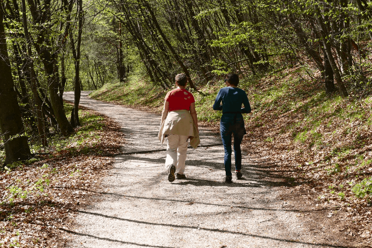 difference between hiking and walking