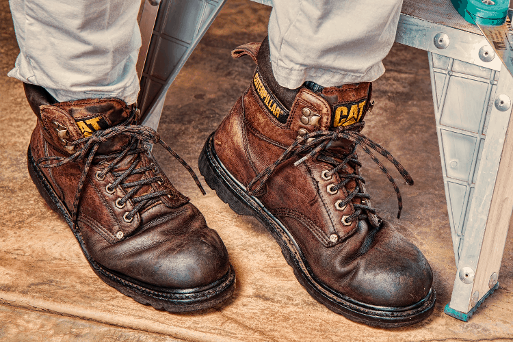 a man in backpacking boots