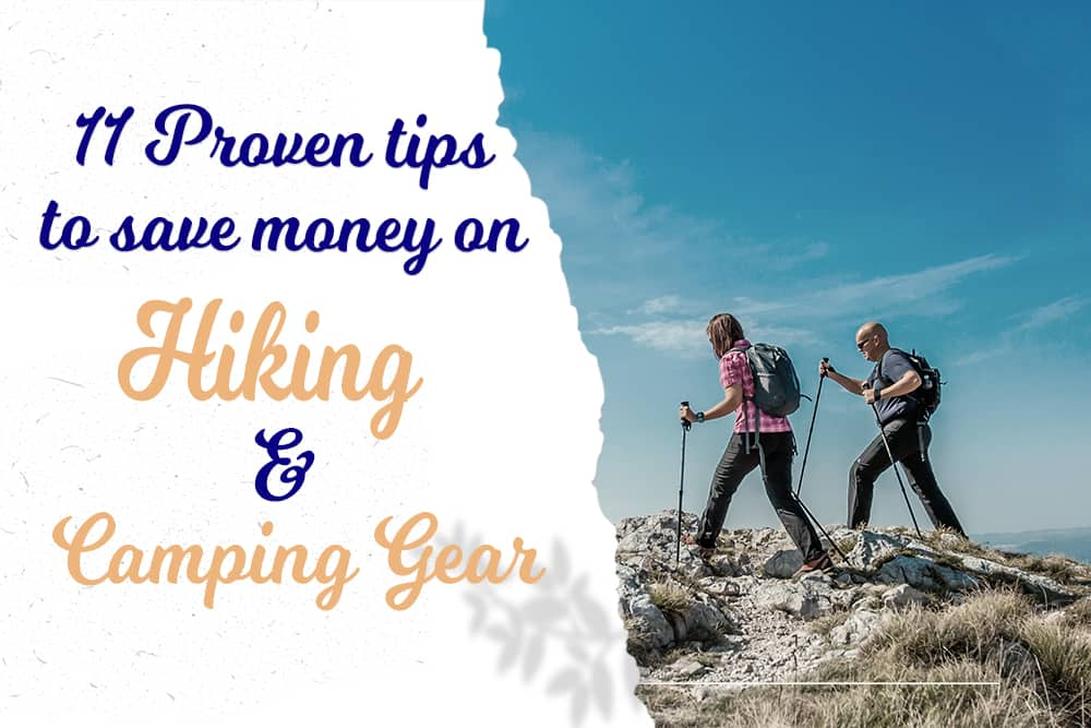 saving money on hiking and camping gear