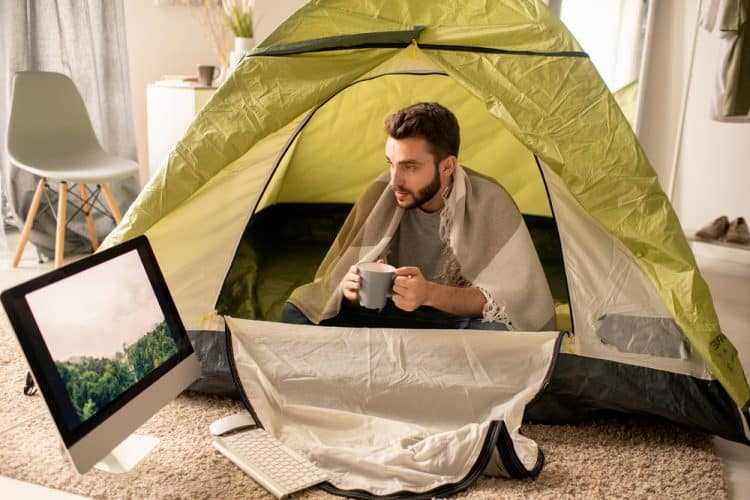 dry your tent at home