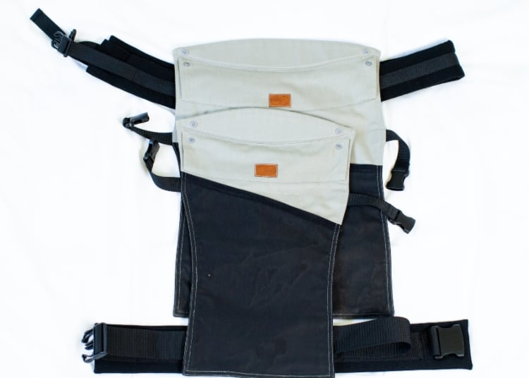 the co carrier hiking child carrier is slim and packable