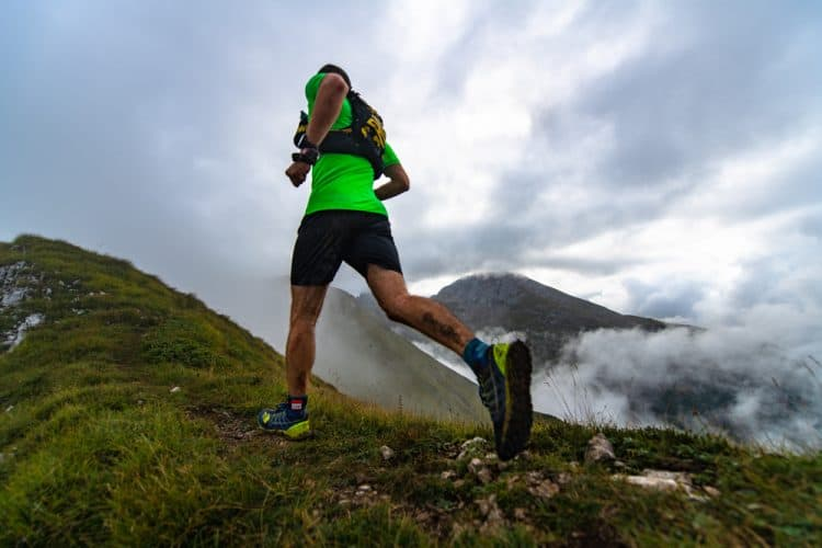 runner in the mountains