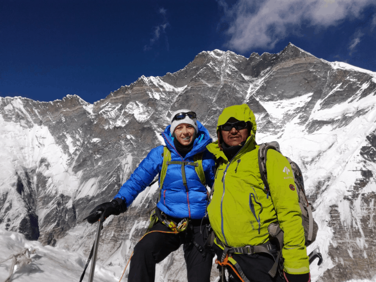 two hikers mountaineering