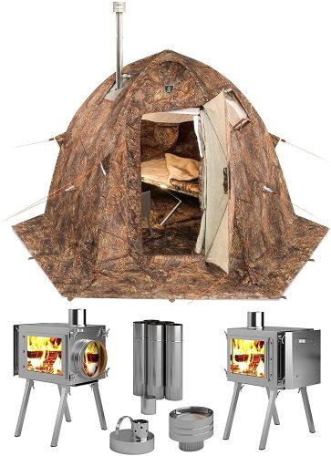 Russian-Bear Hot Tent with Stove Pipe Vent